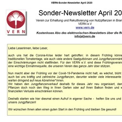 Sondernews VERN-Sonder-Newsletter April 2020